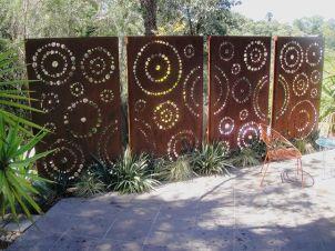 clôture acier corten